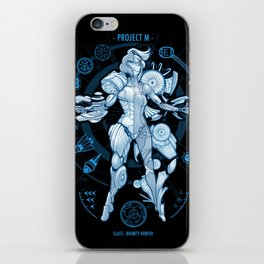 Project M - Blue Print Edition iPhone Skin