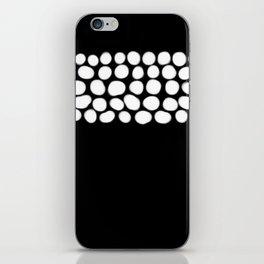 Soft White Pearls on Black iPhone Skin