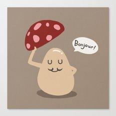 a gentle mushroom Canvas Print