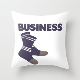 Office Agent Business Time Business Socks Humor Throw Pillow