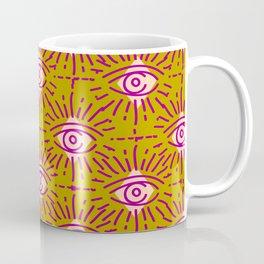 Dainty All Seeing Eye Pattern in Blush Coffee Mug