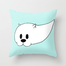 GHOSTCAT Throw Pillow