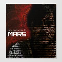 30 seconds to mars Canvas Prints featuring 30 Seconds to Mars by Genesys