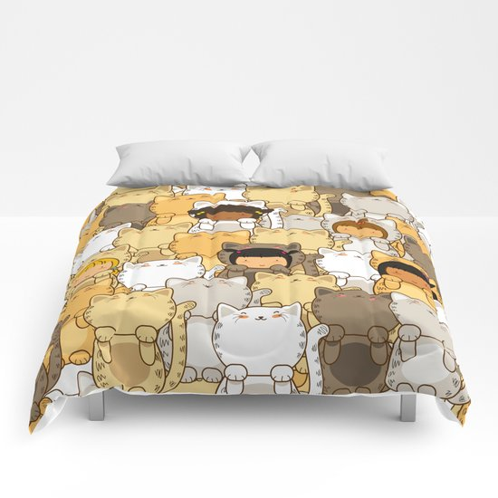 Lucky Cats Comforters
