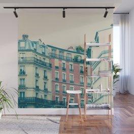 Paris Pink Facades Wall Mural