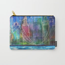 New York Skyline Drawing Carry-All Pouch