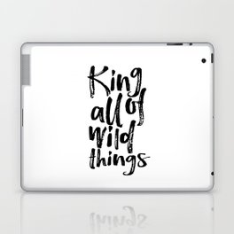 Be Brave Little One Nursery Art Little Boy's Room Wild Things Print King of All Wild Things Laptop & iPad Skin