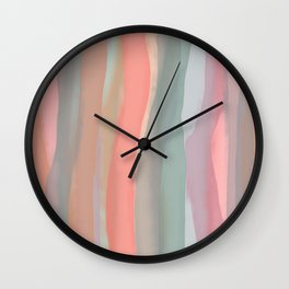 Peachy Watercolor Wall Clock
