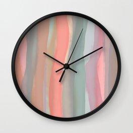 Peachy Watercolor Wall Clock