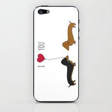 DACHSHUND LOVE iPhone & iPod Skin