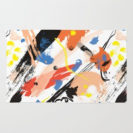 Abstract Floral Splash Rug
