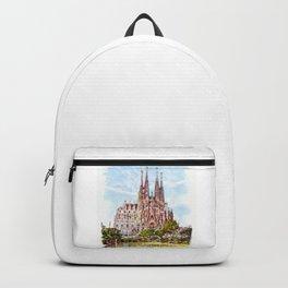 La Sagrada Familia watercolor Backpack