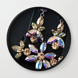 Diamond Flowers Wall Clock