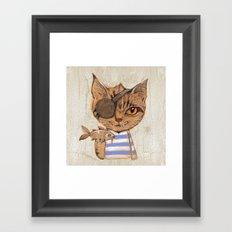 Killer Cat Framed Art Print