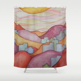 Colorful Hillsides Shower Curtain