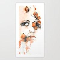 butterflies Art Prints featuring Butterflies by Jenny Viljaniemi