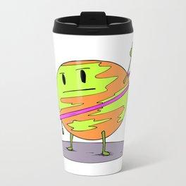 Angry Saturn Metal Travel Mug