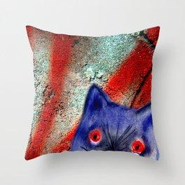 Gordon The Graffiti Cat Throw Pillow