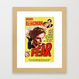 Fear - Vintage 1957 Film Poster Framed Art Print