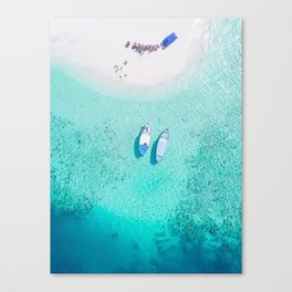 boats on the beach Canvas Print