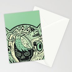 Bubble head - green Stationery Cards