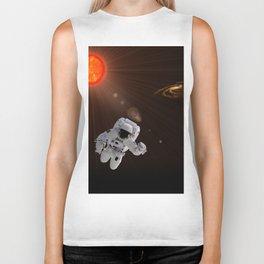 Astronaut And Sun Biker Tank
