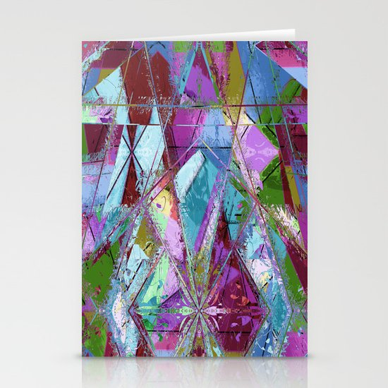 Abstract geometrics Stationery Cards