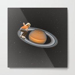 Saturn Skating Metal Print
