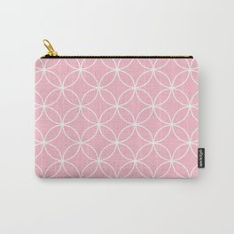 Crossing Circles - Pink Lemonade Carry-All Pouch