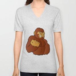 cartoon gorilla Unisex V-Neck