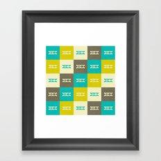 Hi Pattern Framed Art Print