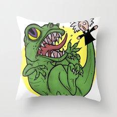 The Dinosaur  Throw Pillow