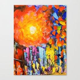 Oil Colours Canvas Print