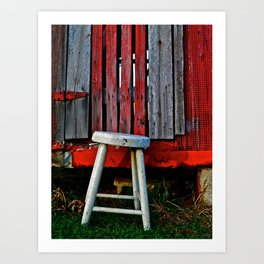 Milk Stool Art Print