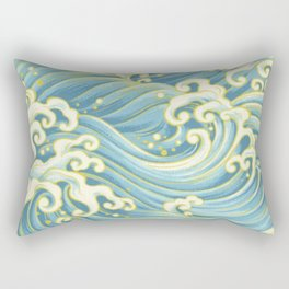 Wave Pattern Rectangular Pillow