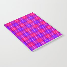 Crazy Pink and Purple Plaid Notebook