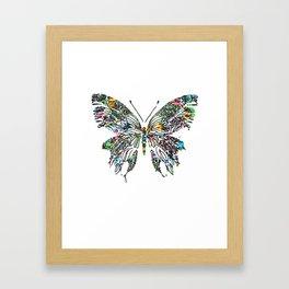 Butterfly Digital Drawing Framed Art Print