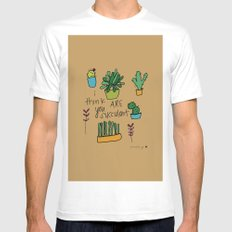 Plant Love. White Mens Fitted Tee MEDIUM