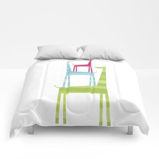 Giraffe Trio Comforters