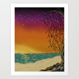 Fairies (By the Sea) Art Print