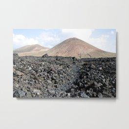 Volcano land Lanzarote Metal Print