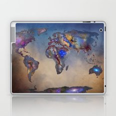 Stars world map. Blue Laptop & iPad Skin