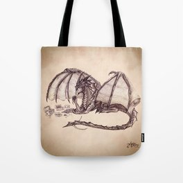 """""""Material Girl"""" by Amber Marine ~ Graphite & Charcoal Dragon Art, (Copyright 2005) Tote Bag"""
