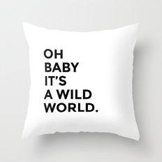Wild World Throw Pillow