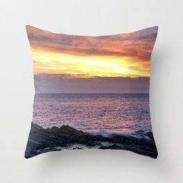 Seacape sunset Throw Pillow