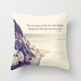 Filled with Longing Throw Pillow