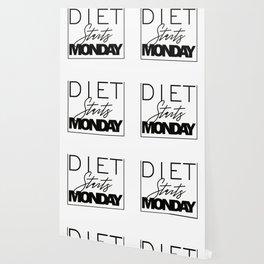 Diet starts Monday design Wallpaper