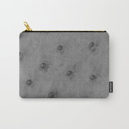 Ostrich leather effect (light grey) Carry-All Pouch