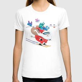 Santa Skiing 1 T-shirt