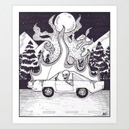Burnout Art Print